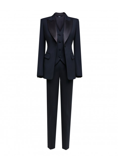 TREE PIECE SUIT WITH TUXEDO